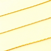 Gold plated 0.8mm Beading Chain PK of 1M